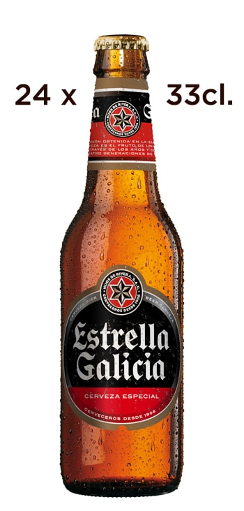 Cerveza Estrella Galicia. Caja de 24 Tercios