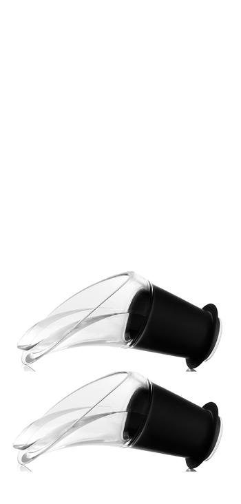 Escanciador Antigoteo Cristal Negro  Vacu Vin