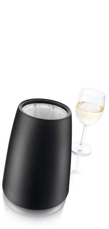 Cubitera Negra Con Enfriador Silver Vacu Vin