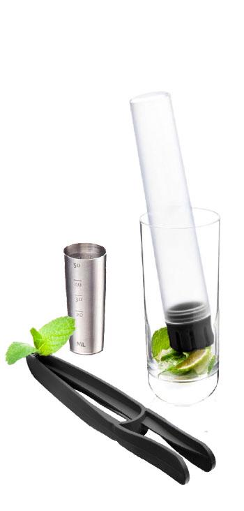 Mezclador Y Accesorios Negro Vacu Vin