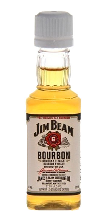 Whisky Jim Beam Miniatura - Caja de 120 uniddaes