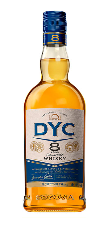 Whisky DYC 8 Años Miniatura