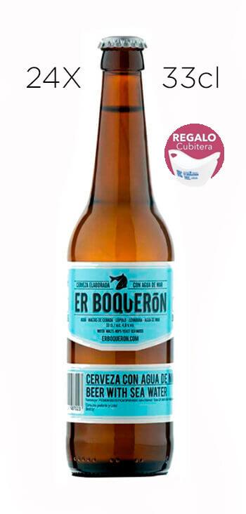 Cerveza Artesana Er Boquerón. Caja de 24 Tercios + Cubitera de Regalo