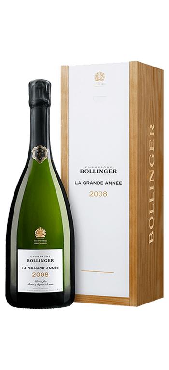 Champagne Bollinger La Grande Année con Cofre