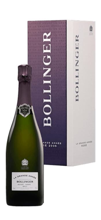 Champagne Bollinger La Grande Année Rosé con Cofre