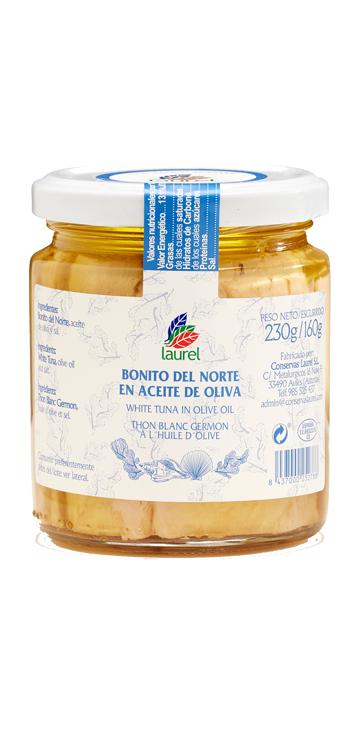 Bonito en Aceite de Oliva Laurel 160 gr