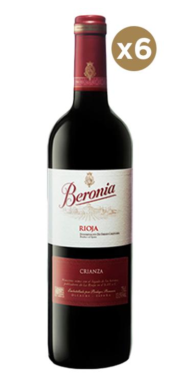 Caja de 6 Botellas de Vino Tinto Beronia Crianza