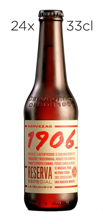 Caja de 24 Tercios Cerveza Estrella Galicia 1906 Reserva Especial