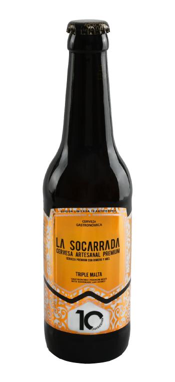 Cerveza Artesana Premium La Socarrada 33cl.