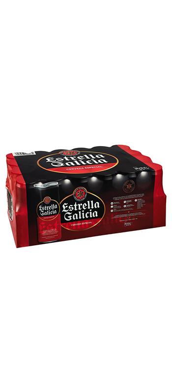 Cerveza Estrella Galicia. Caja de 24 Latas de 33cl