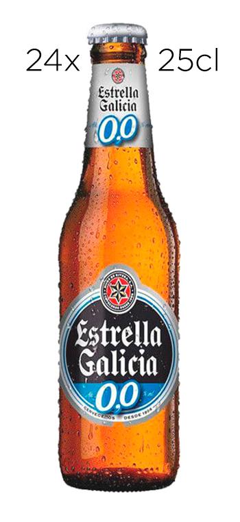 Cerveza Estrella Galicia Sin Alcohol 0,0. Caja de 24 botellas de 25cl.