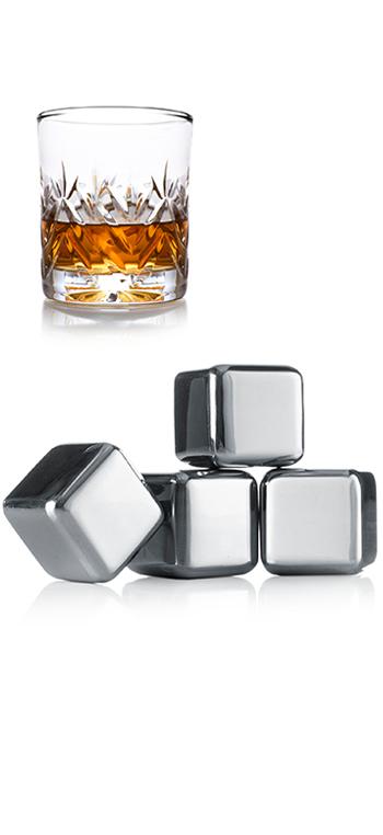 Cubitos Whiskie 4 unid. - Vacu Vin