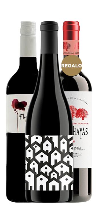 Pack de vinos 2 + 1 de regalo