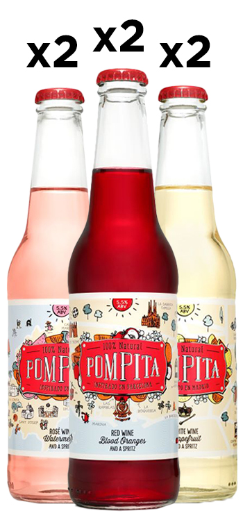 Pack de 6 Vino Frizzante Pompita