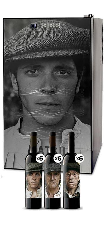 Pack Matsu, El Picaro, El Recio Y El Viejo + Climatizador Cavevinum Cv 18 personalizada de regalo