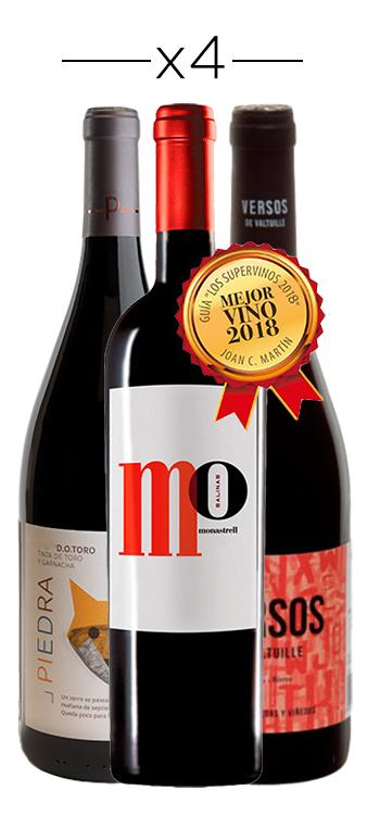 Pack Mejores Vinos de España Calidad - Precio (12 Botellas)