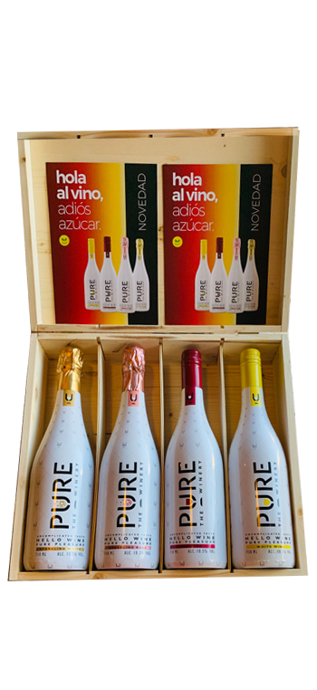 Pack PURE The Winery + Caja de Madera