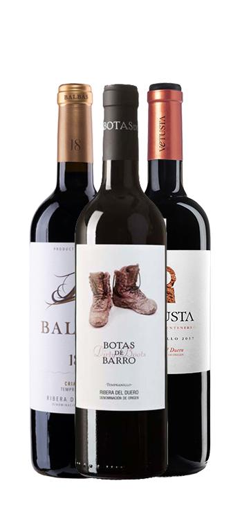 Ribera del Duero Selección: Balbás, Vetusta, Botas del Barro
