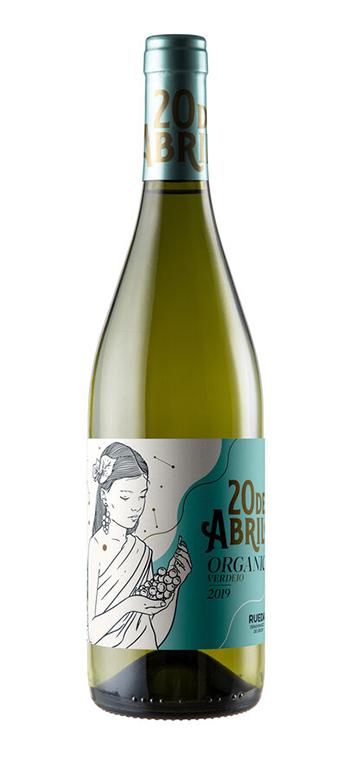 Vino Blanco 20 de Abril Verdejo Ecológico - Vegano