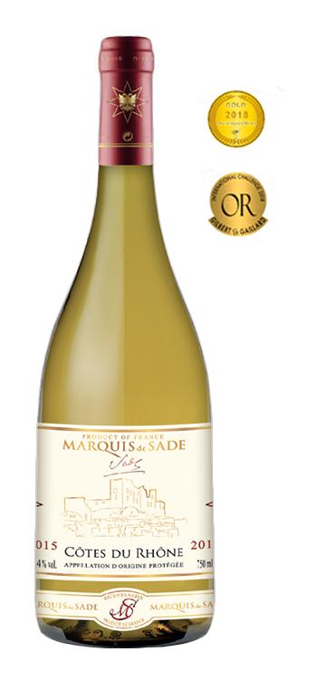 Vino Blanco Marquis de Sade AOP Côtes Du Rhône