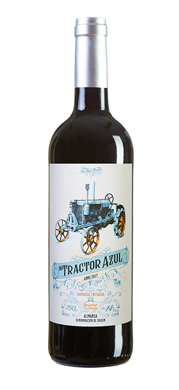Vino Tinto Mi Tractor Azul Almansa
