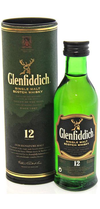 Whisky Glenfiddich de Malta Miniatura 5cl Con Tubo (Caja de 96 unidades)